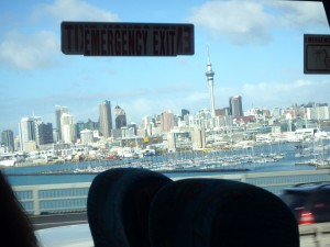 Auckland from the bus