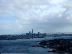 Auckland from the top of the tramp